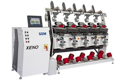 Fig.1: SSM XENO-YW, depending on the application and winding parameters, the power consumption of these high-performance winding machines is just 18 to 100 watts per winding unit